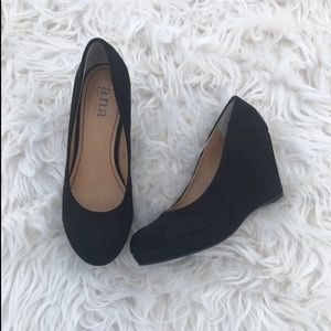 a.n.a Shoes - Black Wedge Shoes
